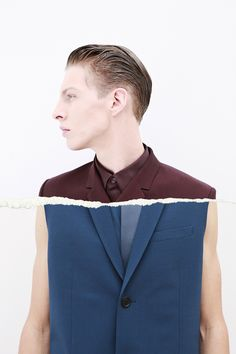 Kris Van Assche holds up a mirror to Dior Homme spring/summer 14 with Tension. LOOK.