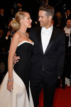"""Nope, nothing in your teeth, you're good."" - A History of Ryan Reynolds gazing loving at Blake Lively - ELLE"