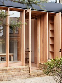Removing a poorly laid out addition, O'Sullivan Skoufoglou Architects have introduced a highly-crafted solution to this north London townhouse. London Architecture, Wood Architecture, Contemporary Architecture, Architecture Details, Architecture Today, Contemporary Building, Contemporary Garden, Contemporary Bedroom, Contemporary Furniture