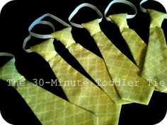 Toddler tie tutorial-super easy & I've done several ties very similar to this.