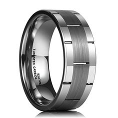 Full /& Half Sizes 925 Sterling Silver 8mm Polished Fancy Flat Triple Grooved Wedding Ring Band Available in Sizes 7-13