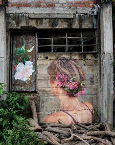 Backyard Retaining Walls, Light Green Walls, Green Painted Walls, Wall Murals, Wall Art, Wall Paper Phone, Street Gallery, Amazing Street Art, City Style
