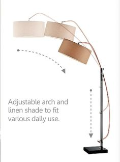 """Avant 78.5"""" Arched Floor Lamp"""