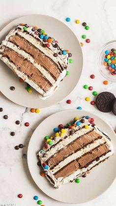 Fun Baking Recipes, Best Dessert Recipes, Cupcake Recipes, Köstliche Desserts, Frozen Desserts, Delicious Desserts, Sandwich Cake, Sandwiches, Chocolate Ice Cream