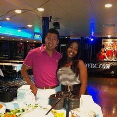 Lovely staff members Angela & Lalo strike a pose on the Mystic Blue
