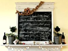 We <3 this love-inspired mantel for your favorite love quotes. #home http://www.ivillage.com/diy-valentines-day-decorations/7-b-518663#518666
