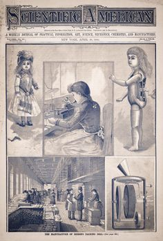 Scientific American magazine, April 26, 1890, full view of cover page