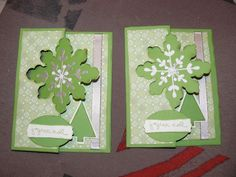 Carte popup, Snowflake thinlit flip card