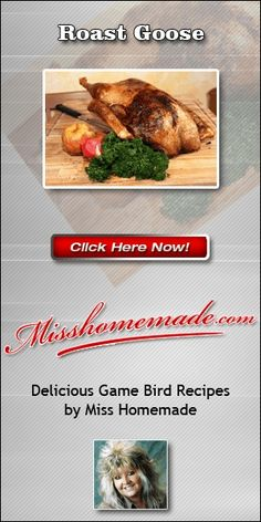 Miss Homemade Christmas Goose Recipe