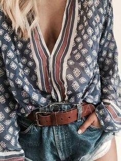 ARTFFEL Mens Stylish Long Sleeve Lapel Camo Clubwear Designed Dress Shirts