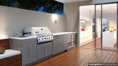 outdoor kitchen design with decking bbq and wine storage