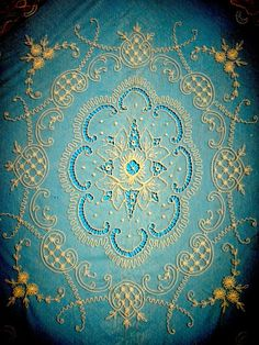 french lace-oo la la! This blue is tres wonderful.