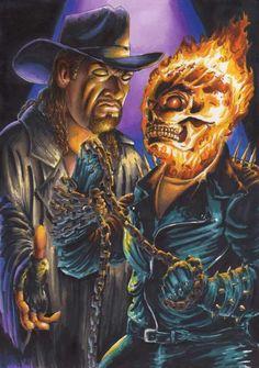 Undertaker Vs Ghost Rider 1 by MrJimiMadcap on DeviantArt