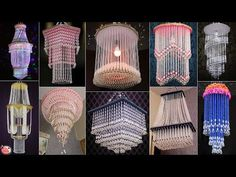 19 STUNNING CHANDELIER... DIY PEARLS WALL HANGING THAT WILL MAKE YOUR HOME UNIQUE - YouTube How To Make A Chandelier, Beaded Chandelier, Feather Crafts, Seashell Crafts, Diy Crafts Hacks, Diy Arts And Crafts, Diys, Diwali Decorations At Home, Diy Plastic Bottle