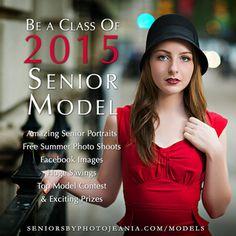 Want unique senior pictures and an exciting modeling experience? We're looking for photogenic, outgoing high school juniors to join our class of 2015 senior models. Senior Models receive free photo shoots, amazing senior pictures and tons of senior picture ideas for girls and guys. Opportunities in Iowa, Nebraska, Missouri, Kansas, Ohio, Pennsylvania, New Jersey and Delaware. Apply at www.seniorsbyphotojeania.com/models. #seniorsbyphotojeania #uniqueseniorpictures #seniorpictureideasforgirls