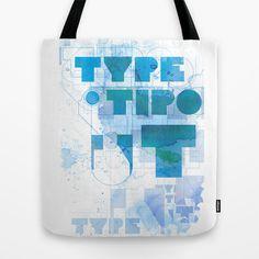 TYPEBLUUU Tote Bag by mayavisual - $22.00