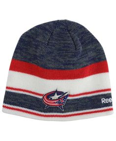 602b8c14e49 Reebok Columbus Blue Jackets Player Knit Hat Knit Hat For Men