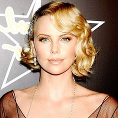 A modern interpretation of a loose 1930s inspired marcel wave modelled by Charlize Theron.