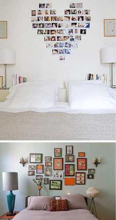cabecero de cama con fotos
