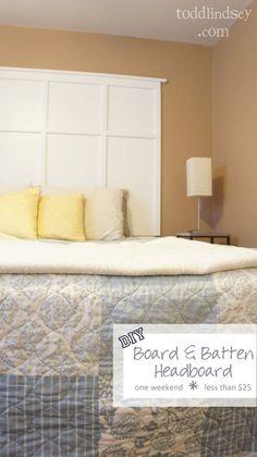 Todd & Lindsey: DIY Board & Batten Headboard (for the master bedroom)