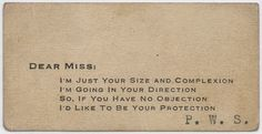 vintage everyday: Vintage Acquaintance Cards from the Mid-20th Century