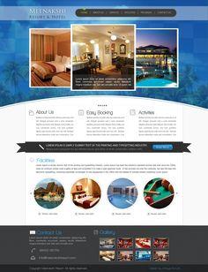 Resort & Hotel Website. Designed for Arksys 2012