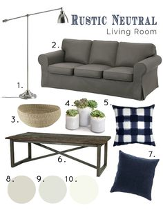 A Burst of Beautiful: Rustic Neutral Living Room