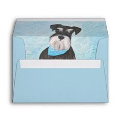 #Schnauzer (Miniature) Envelope - #miniature #schnauzer #puppy #schnauzers #dog #dogs #pet #pets #cute #miniatureschnauzer