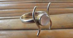 925 sterling silver ring pink quartz silver di silveringjewelry