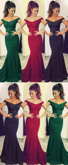 Mermaid V-neck Off Shoulder Bridesmaid Dresses Lace Appliques Fitted Prom Dresses, Prom Girl Dresses, Elegant Bridesmaid Dresses, Affordable Prom Dresses, Floor Length Dresses, Mermaid Prom Dresses, Bridesmaids, Burgundy Mermaid Dress, Off Shoulder Bridesmaid Dress