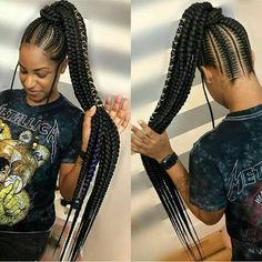 Braided wig/Ghana Weaving Braided Wig/ Full Lace Wig/ Cornrow Wig/ Baby hair Black Women Hairstyles, Cool Hairstyles, Dreadlocks, Updos, Natural Hair Styles, Fine Hairstyles, Hair Dos, Fancy Hairstyles, Dreads