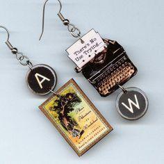 Alice in Wonderland Earrings vintage by DesignsByAnnette on Etsy