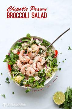 Keto Chipotle Prawn & Broccoli Salad