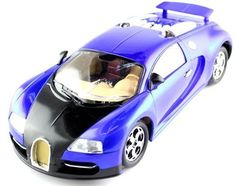 Bugatti Veyron 16.4 Super Sports RTR Electric Rc Car by Zinyu. $37.99. This is the new Bugatti Veyron 16.4 Super Sports RTR Electric RC Car. This RC car comes with a full function radio control that allows for forward, backward, left, right, and stop movement. The innovative hinged chassis allows for smoother movement and sharper turns. It comes with working headlights that allow you to drive in the light or in the dark. This car has a realistic interior cockpit and great a...