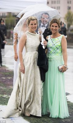 Glamorous guests: Sophie, Countess of Wessex is joined by Princess Märtha Louise of Norway...