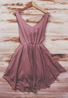 Cute Hot Vest Coffee Plain Pleated Round Neck Sleeveless Fashion Sexy Hollow Out Mini Dress