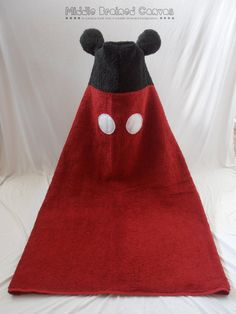 Mickey Mouse Hooded Towel by MiddleBrainedCanvas on Etsy, $25.00