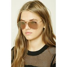 Forever21 Aviator Sunglasses ($7.90) ❤ liked on Polyvore featuring accessories, eyewear, sunglasses, mirror lens aviator sunglasses, forever 21, mirrored lens sunglasses, aviator sunglasses and mirror lens sunglasses