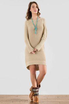 Quinn Solid Sweater Dress | Francescas