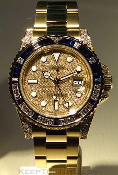 ♛ Rolex GMT Master II - 18k Gold & Diamonds ♛