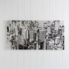 WALL ART GRAPHIC CITY BLACK & WHITE  - BLACK/ WHITE