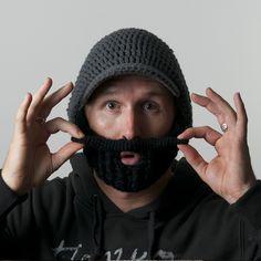 beardo beard hat .. from beardowear.ca (foldaway, detachable and adjustable beard!) I want for snowboarding and skiing!
