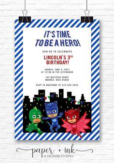 PJ Masks Invitation