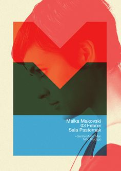 Makovski Poster Quim Marin has a love for color blocking, which shows beautifully in this poster. design by Marin Dsgn.Quim Marin has a love for color blocking, which shows beautifully in this poster. design by Marin Dsgn. Graphic Design Posters, Graphic Design Typography, Graphic Design Illustration, Graphic Design Inspiration, Branding Design, Poster Designs, Graphic Prints, Graphisches Design, Swiss Design