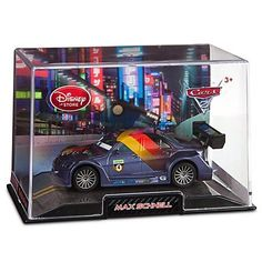 Disney / Pixar CARS 2 Movie Exclusive 148 Die Cast Car In Plastic Case Max Schnell by Disney Store. $15.99. Comes in plastic case with scenic display backing. Ages 3+. 1 1/2'' H x 2'' W x 4 1/4'' L. Finely detailed die cast metal. Collect die cast replicas of all your favorite Cars 2 characters, each sold separately. The pride of German racing, Max Schnell is the precision-engineered World Torque Champion League star. This detailed Max Schnell Cars 2 Die Cast Car captures the...
