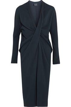 Lanvin Twist-front crepe dress NET-A-PORTER.COM