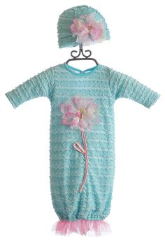 Cach Cach Water Lily Blue Newborn Take Home Gown $69.00