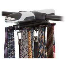 Honey Can Do Battery Powered Tie and Belt Organizer - HNG-03222