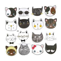 Cat stickers! 🐱🐱🐱...NEW to the shop!