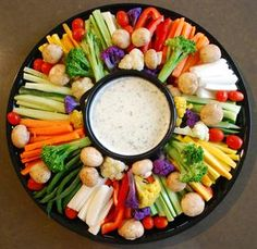 Vegetable crudite with chunky herbed blue cheese or garlic aioli